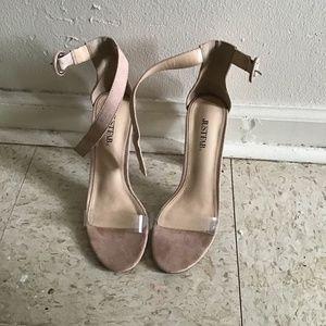 JustFab open toe beige sandals